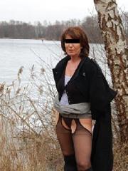 Aufnahme von Sexdate mit Cuckold Brigitte, NRW Outdoor
